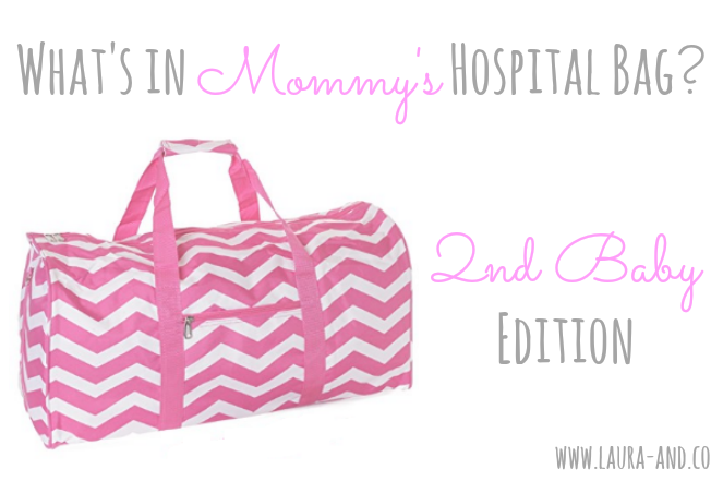 Mommy's Hospital Bag Title