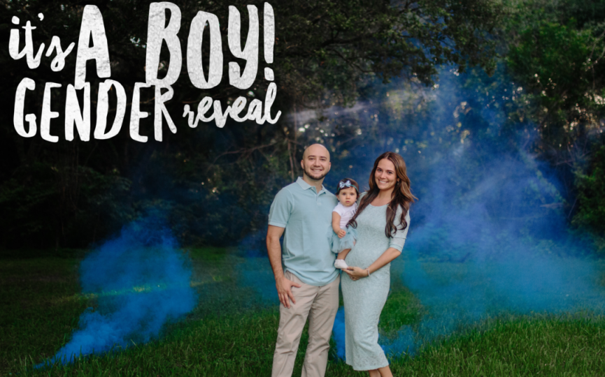 It's a Boy Gender Reveal Smoke Bomb Photoshoot