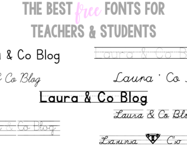 The Best Free Fonts for Teachers & Students