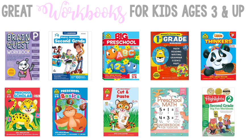 Great Workbooks for Kids Ages 3 and Up