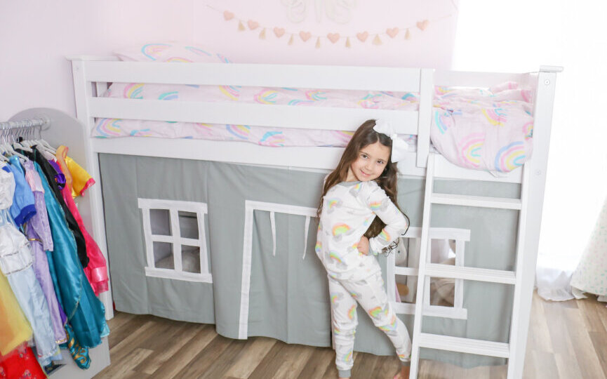 Max & Lily Furniture Low Loft Bed (8)